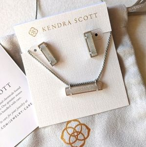 Kendra Scott jewelry earrings and necklace set
